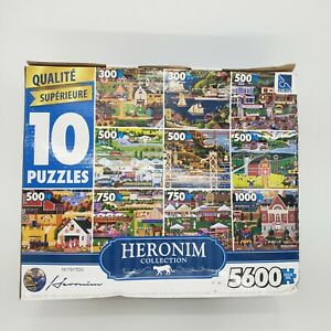Heronim Collection 10 in1 pack Jigsaw Puzzles - 5600 Total Pieces by SURE-LOX