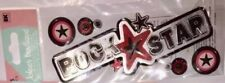 Jolees Rock Star Title Playing Music Instruments Scrapbook Stickers Guitar Band