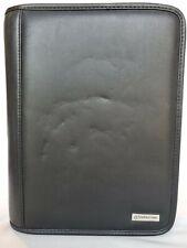 Franklin Covey Organizer Planner Black Faux Leather 7 Ring Zipper Binder 8 X 10