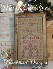 Merry Christmas Sampler Blackbird Designs Cross Stitch Pattern
