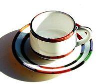 Set O 4 Deruta Of Italy CIRCO Tea Cup & Saucer Mug