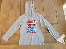 Kids Headquarters boys hoodie BNIB size 5 Firetruck and Helicopter