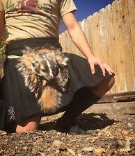 Badger fur full masked sporran for kilt celtic reenactor scottish kilt taxidermy