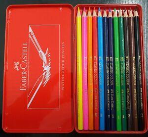 Faber-Castell Classic Colour Pencils tin of 12 Pencil hexagonal shape