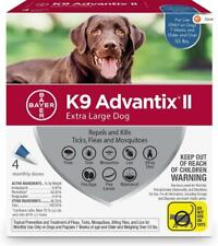Bayer K9 Advantix II for Extra Large Dogs Over 55lbs (4 Dose Pack Box)