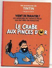 CD AUDIO MP3. Tintin. LE CRABE AUX PINCES D'OR. Adaptation Radio de 3h02.