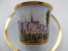 """Taza de vistas """"Augusteum a Leipzig."""" Meissen-schwertermarke"""