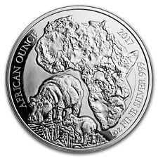 2017 Rwanda 1 oz Silver African Hippo Proof