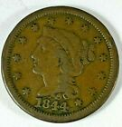 1844 United States Large One Cent Coin Large Cent Penny