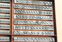 24p - PRESENT Bleisatz Buchdruck Handsatz Bleibuchstaben - 9 mm Letterpress Type