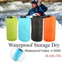 8L-70L Waterproof Dry Bag Sack Canoe Floating Boating Kayaking Camping Backpack