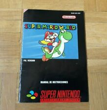 MANUAL INSTRUCCIONES SUPER MARIO WORLD ESPAÑOL SUPER NINTENDO SNES PAL