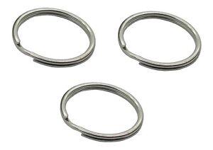 30mm Split Ring / Key Ring Ring x 3 Silver Rings For Keys 4793