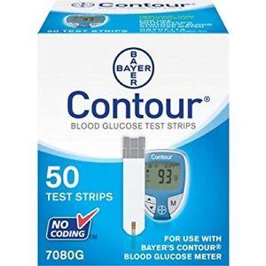 Bayer Contour Blood Glucose Test Strips, 50 Strips