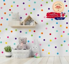 198x Polka Dot Stickers Wall Girls Boys Bedroom Home Decor Nursery 11 colours