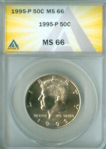 1995-P KENNEDY HALF DOLLAR ANACS MS66 FREE S/H (1925308)