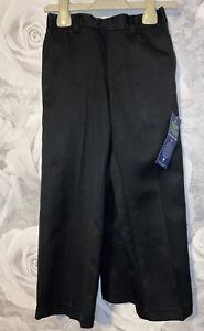 Boys Age 4-5 Years - BNWTS School Uniform Trousers - Black - X2 Pairs