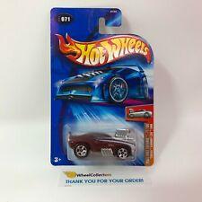 Tooned Camaro Z28 #71 * Burgundy * 2004 Hot Wheels * WF12
