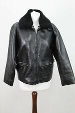JIGSAW Black Leather jacket size 1
