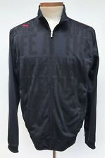Men Puma Track Jacket Volvo Ocean Race SZ L Black & Blue Graphic RARE MINT COND.