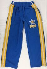 Sean John Men's 1969 Snap Warm-Up Pants Blue w/Yellow & White Leg Stripes XXL