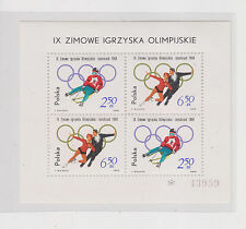 POLAND,1964,OLYMPIC GAMES INNSBRUCK sheet, MNH