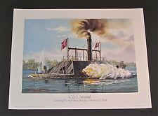William McGrath - C.S.S.Savannah - Collectible Civil War Nautical Print