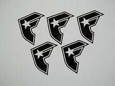 5 x Famous Stars & Straps Stickers Vinyl Decal Ski Snowboard Car Skate Motocross