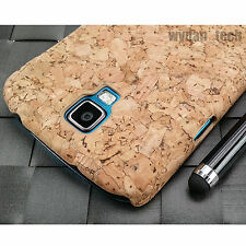 For Samsung Galaxy S4 Active i537 Real Cork 1-Piece Hard Thin Case Cover w/ Pen