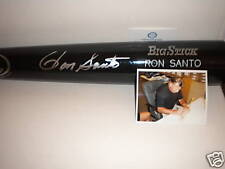 Ron Santo Chicago Cubs White Sox Autographed Signed Bat Engraved