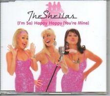 (AK563) The Sheilas, Happy Happy (You're Mine) - DJ CD