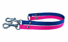 Hot pink & blue 2 way chihuahua dog/puppy coupler lead