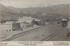 RAILWAYS CORDILLERA DE LOS ANDES ESTACION POTRERILLOS FOT. BOURQUIN Y CIA 1083