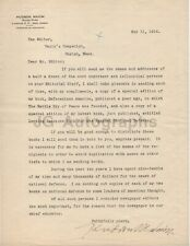 Hudson Maxim - American Inventor and Chemist - Signed Letter (Tls), 1916