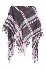 Neon Pink Black Silver & Grey Funky Casual Wrap Bandana Scarf W Tassels (s112)