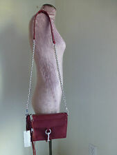 Rebecca Minkoff Mini Mac Red Leather Clutch Crossbody Bag New