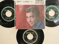 LOT OF 4 ' JOHNNY CRAWFORD ' HIT 45's+1P(Copy)[RUMORS]   THE 60's!