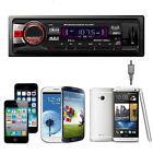 Car Audio Stereo In Dash AM FM Aux Input Receiver W/ SD USB MP3 Radio Player Wea