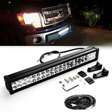 Fit Ford F150 2009-2014 Hidden Bumper Grille 120W Off-road LED Combo Light Bar