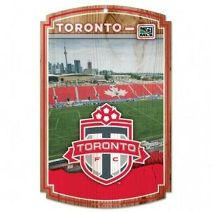 TORONTO FC WOOD SIGN 11' X 17' OFFICIALLY LICENSED SHIPS FROM CANADA
