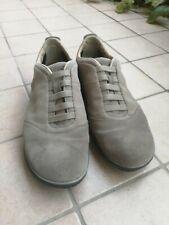 Sneakers Geox Nebula, colore beige con suola blu, numero 43
