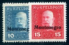 ÖSTERREICH FELDPOST MONTENEGRO 1915 I-II * TADELLOS (I3916