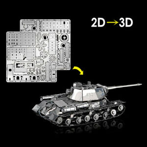 Hot Chieftain Tank JS-2 Model 1:100 HKNANYUAN 3D Metal Puzzle Creative Toys Gift