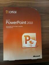 Microsoft Office PowerPoint 2010 / Vollversion / Retailbox inkl. DVD / 079-05190