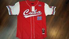 CUBA baseball Jersey Red Latin Baseball Jersey Negro Leagues Baseball Jersey S