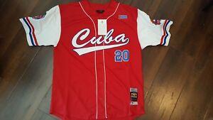 CUBA baseball Jersey Red Latin Baseball Jersey Negro Leagues Baseball Jersey Med