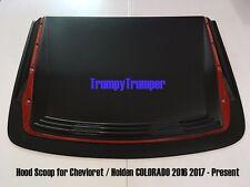 MATTE BLACK RED HOOD SCOOP BONNET COVER FOR CHEVROLET HOLDEN COLORADO 2016-2020