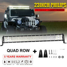 "Quad-Row 23/22Inch 2688W Led Light Bar Combo Offroad 4WD Truck ATV 24"" vs 29inch"