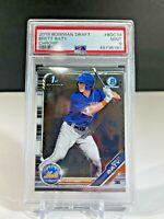 2019 Bowman Chrome Draft Brett Baty Rookie Card PSA 9 Mint Mets Baseball Card