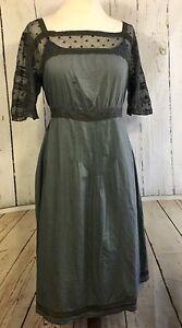 NOA NOA dress Coot cotton tea khaki lace belt net €124.95  XS/34 UK: 8